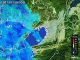 2015年03月18日の大阪府の雨雲レーダー