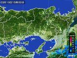 2015年03月19日の兵庫県の雨雲レーダー