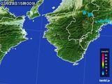 2015年03月23日の和歌山県の雨雲レーダー
