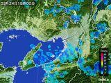 2015年03月24日の大阪府の雨雲レーダー