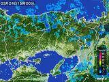 2015年03月24日の兵庫県の雨雲レーダー