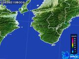 2015年03月28日の和歌山県の雨雲レーダー