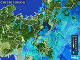 2015年03月29日の滋賀県の雨雲レーダー