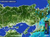 2015年03月29日の兵庫県の雨雲レーダー