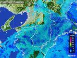 2015年03月29日の奈良県の雨雲レーダー