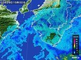 2015年03月29日の和歌山県の雨雲レーダー