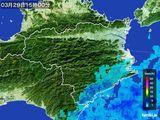 2015年03月29日の徳島県の雨雲の動き