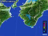 2015年04月01日の和歌山県の雨雲レーダー