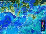 2015年04月03日の大阪府の雨雲レーダー