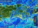 2015年04月03日の兵庫県の雨雲レーダー