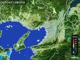 2015年04月04日の大阪府の雨雲レーダー