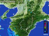 2015年04月04日の奈良県の雨雲レーダー