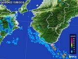 2015年04月04日の和歌山県の雨雲レーダー