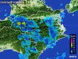 2015年04月04日の徳島県の雨雲の動き