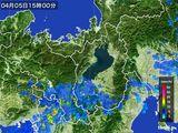2015年04月05日の滋賀県の雨雲レーダー