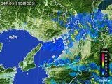 2015年04月05日の大阪府の雨雲レーダー