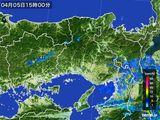 2015年04月05日の兵庫県の雨雲レーダー