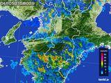 2015年04月05日の奈良県の雨雲レーダー