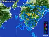 2015年04月05日の和歌山県の雨雲レーダー