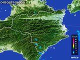 2015年04月05日の徳島県の雨雲の動き