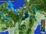2015年04月06日の滋賀県の雨雲レーダー