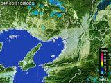 2015年04月06日の大阪府の雨雲レーダー