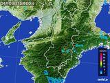 2015年04月06日の奈良県の雨雲レーダー
