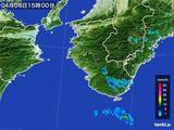 2015年04月06日の和歌山県の雨雲レーダー