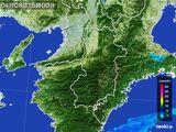 2015年04月08日の奈良県の雨雲レーダー