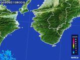 2015年04月09日の和歌山県の雨雲レーダー