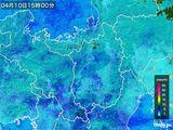2015年04月10日の滋賀県の雨雲レーダー