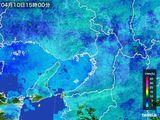 2015年04月10日の大阪府の雨雲レーダー