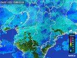 2015年04月10日の奈良県の雨雲レーダー