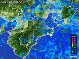 雨雲レーダー(2015年04月13日)