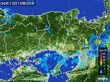 2015年04月13日の兵庫県の雨雲レーダー