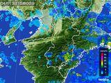 2015年04月13日の奈良県の雨雲レーダー