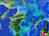 2015年04月14日の奈良県の雨雲レーダー