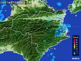 2015年04月14日の徳島県の雨雲の動き