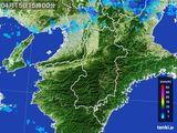 2015年04月15日の奈良県の雨雲レーダー