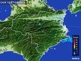 2015年04月15日の徳島県の雨雲の動き