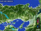 2015年04月18日の兵庫県の雨雲レーダー