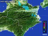 2015年04月18日の徳島県の雨雲の動き