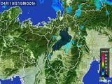 2015年04月19日の滋賀県の雨雲レーダー