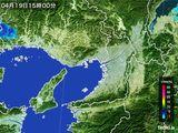 2015年04月19日の大阪府の雨雲レーダー