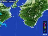 2015年04月19日の和歌山県の雨雲レーダー