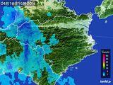 2015年04月19日の徳島県の雨雲の動き