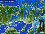 2015年04月20日の兵庫県の雨雲レーダー
