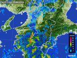 2015年04月20日の奈良県の雨雲レーダー