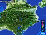 2015年04月20日の徳島県の雨雲の動き