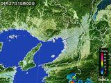 2015年04月27日の大阪府の雨雲レーダー